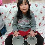2016年2月 楽器の学び ボンゴ りなちゃん、さなちゃん、